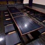 【掘り炬燵席、換気システム3台追加導入!】 ~40名様掘り炬燵席。フロア貸切応相談。お気軽にお問合せを