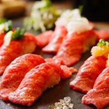 【OPEN限定】3時間飲み放題付「極上和牛炙り肉寿司含む全13品コース」【3980円→2980円】
