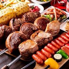 【肉PARTY】3時間飲み放題付「黒毛和牛・肉寿司・ステーキ全55品食べ放題」【6500円→5500円】