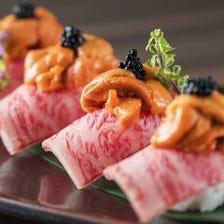 SNSで話題の肉寿司が食べ放題で♪