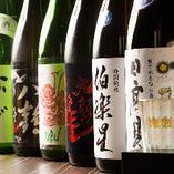 全国各地の地酒や焼酎など全国の200種を超える銘酒が揃う