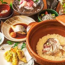 【お昼限定|完全予約制】旬魚を堪能できる『魚めしコース』お造り、天ぷら、煮魚を揃えた7品の献立