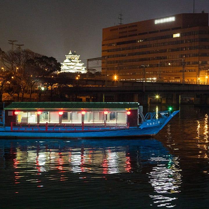 屋形船で水の都・大阪の景観を楽しむ