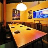 水槽付の優雅なテーブル個室もございます!女子会にも最適★