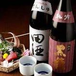 自慢の新鮮なお刺身と相性抜群の日本酒