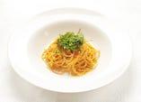 生雲丹と九条葱のトマトソース