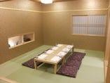 2階の畳のお座敷のお部屋。 全面床暖房であたたか