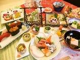 四季の食材を用いた料理の宴会コース