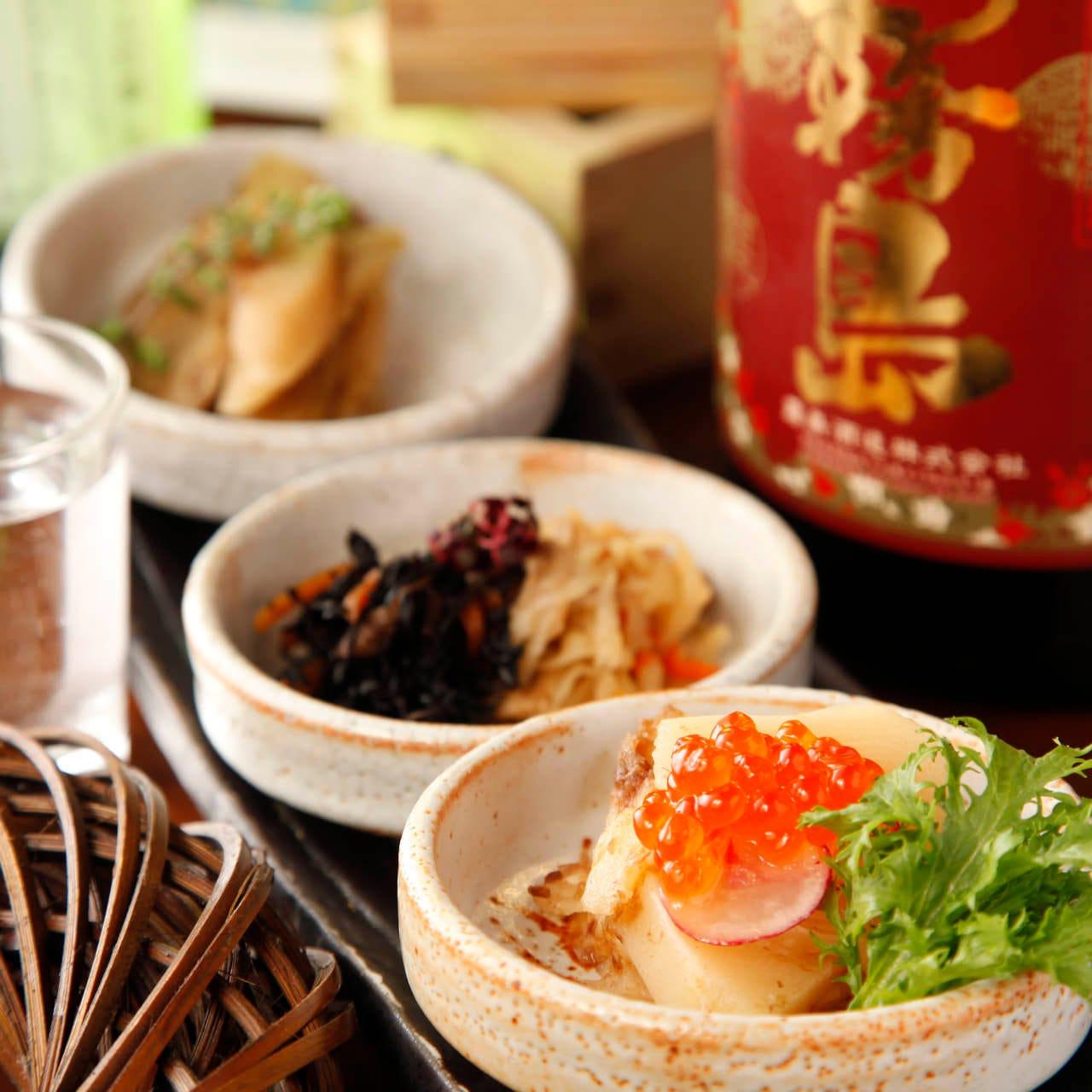 こだわりの和食中心料理の数々…
