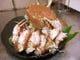 秋田産 活毛蟹の蒸し焼き
