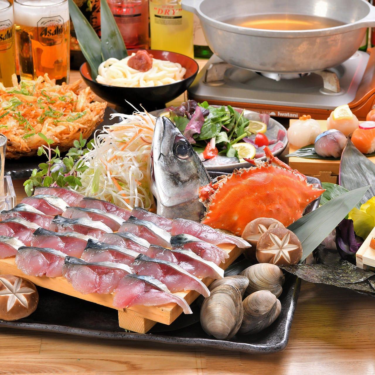 宴会は活さば問の屋「鯖しゃぶ鍋」