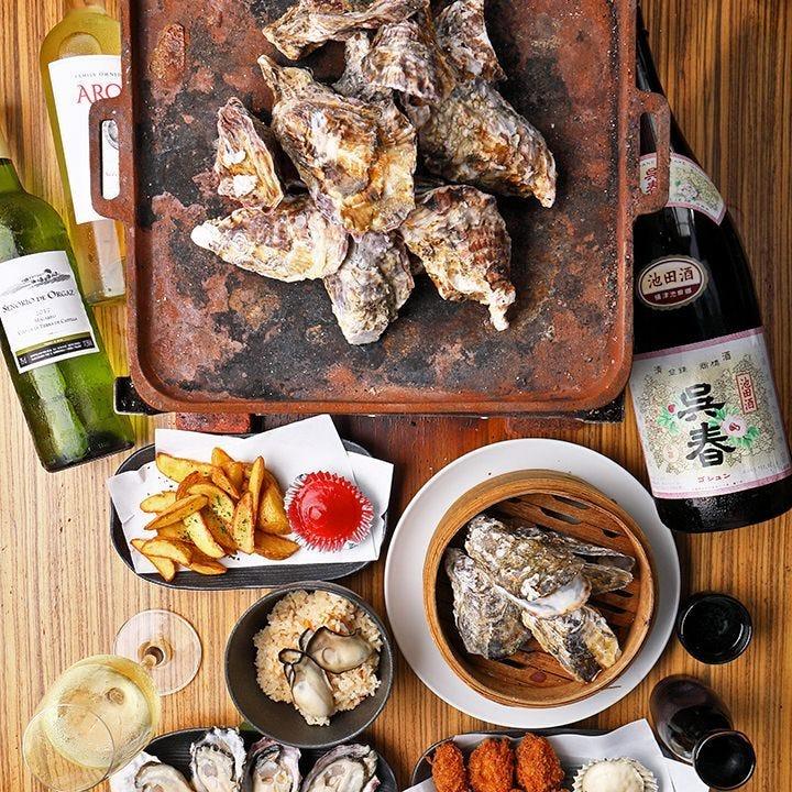 3,980円(税抜)の食べ放題で生牡蠣・焼き牡蠣を存分に堪能!