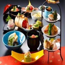 四季彩豊かな懐石料理に舌鼓