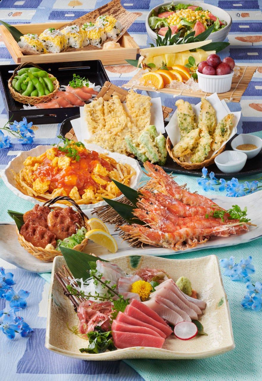 【月夜コース】お料理9品 2,500円(税込)