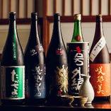 季節限定品をはじめ全国の銘酒を常時40種類以上ラインナップ。
