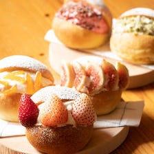 お一人様+500円で、コースのデザートを『マリトッツォ』に変更可能