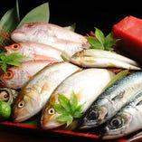 その日〆た新鮮な魚介