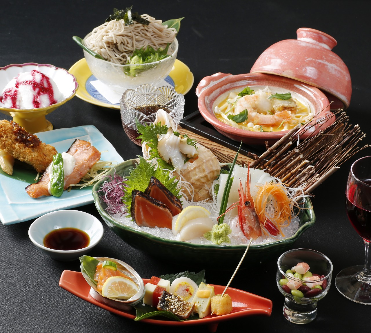 【夏の彩会食…お昼の女子会や各種お集りに】北海の彩会食 利尻