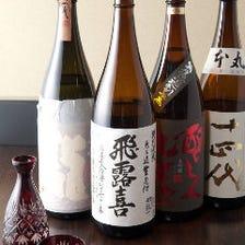 厳選された地酒、焼酎各種あります!