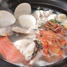 魚介たっぷりの海鮮鍋