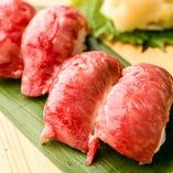 米沢牛の炙り寿司