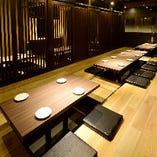 ご宴会にもご利用頂ける個室は2名様から最大85名様までOK