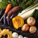 [農家直送野菜!!] メニューの一部に地野菜を積極的に使用◎