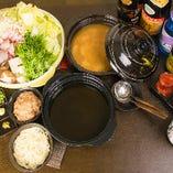 温かいお鍋は味噌か醤油でお楽しみいただけます♪