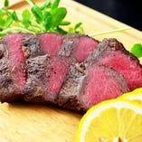 なにわ黒牛のステーキ