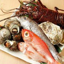 銚子港まで出向いて仕入れる魚や野菜