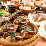 季節の食材のコースやボリューム満点のコースなど多数ご用意!!