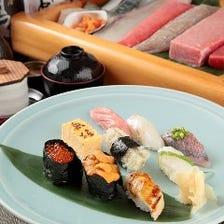 住宅地にひっそり佇む寿司の名店