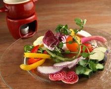 イタリア産のチーズや国産の厳選野菜