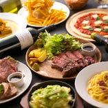 お店イチオシは、2種類のステーキを食べ比べできる5,000円コース!
