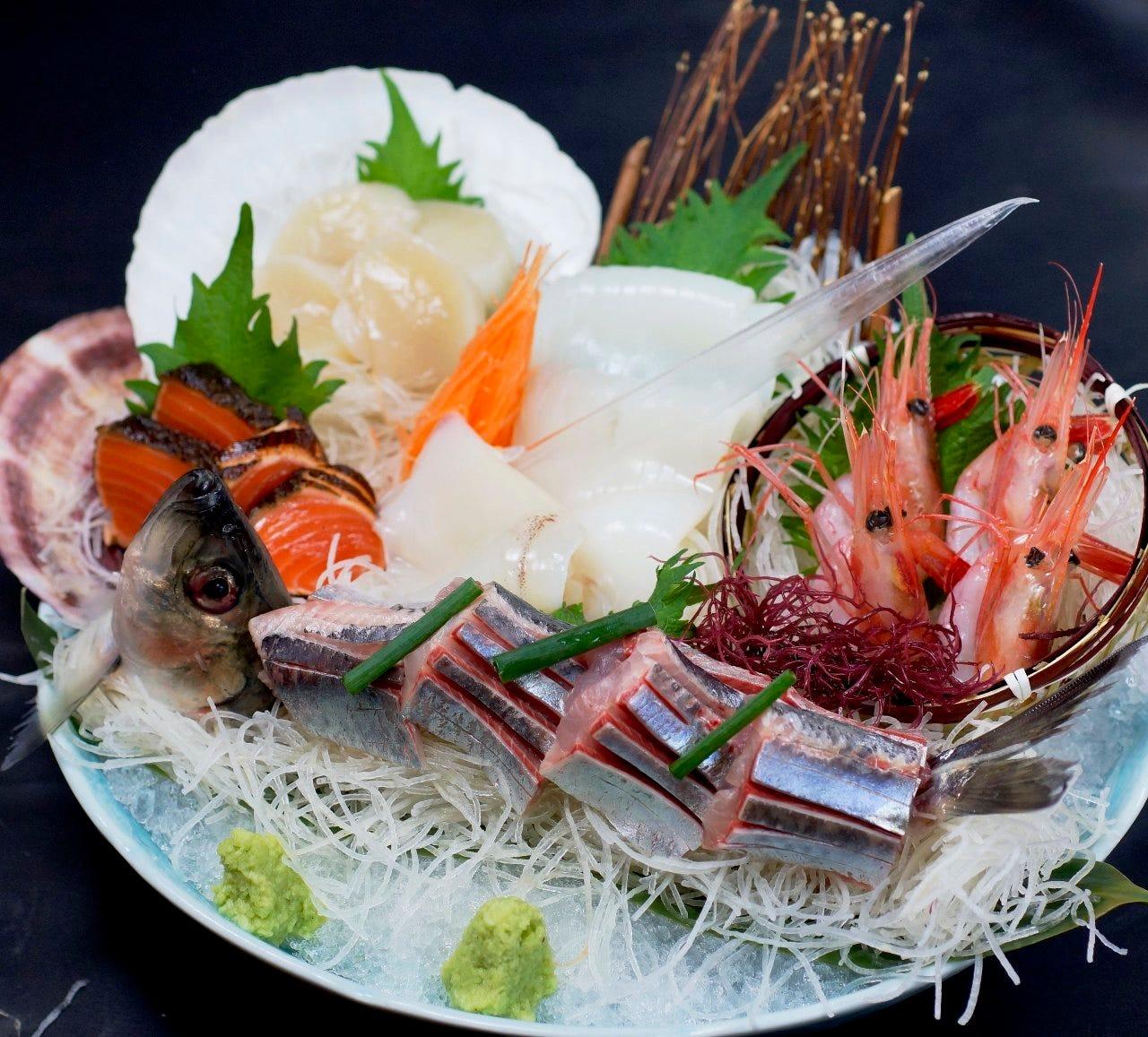 旬のお刺身盛り合わせ2,980円 季節の一番美味しいお刺身盛り