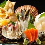 北海道3大貝(帆立貝・つぶ貝・ほっき貝)盛り込み