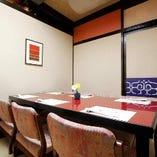 和風情漂うテーブル個室完等備。ご接待・宴会に最大6名様まで