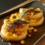 北海道の伝統的な郷土料理 芋もち焼き