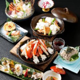 本ずわい蟹に海鮮トロ~りチーズ焼きの付いた豪華満喫コース