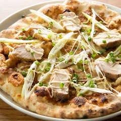 若鶏とネギの和風味噌ピッツァ