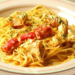 タラバガニのトマトクリームスパゲッティ