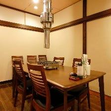 各種宴会やお集まりに嬉しい個室完備