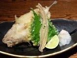 きすの天ぷら 大きい丸一匹のキスです。食べてみて!!