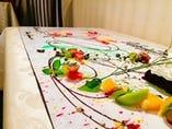 ★当店にしかないサプライズ特典!★テーブル全体を思い出の一皿に♪テーブルアート対応可能です!