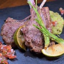 仔羊のソテー メキシカンライムの香り~アボカドスペルト小麦のリゾット添え~