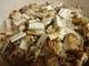炊く前の松茸御飯。国産松茸がどっさり入った最高な炊き込み御飯