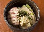 ネギトロとアボガド豆腐