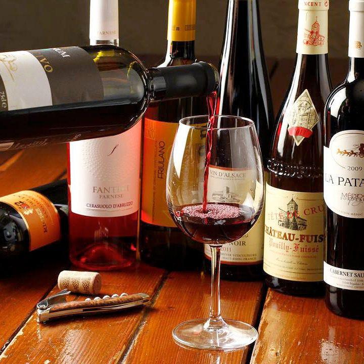 多彩なワインやイタリアン演出の地酒