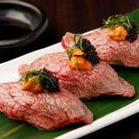 和牛の炙り寿司