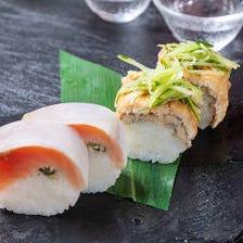 《名物》本日の季節の押し寿司